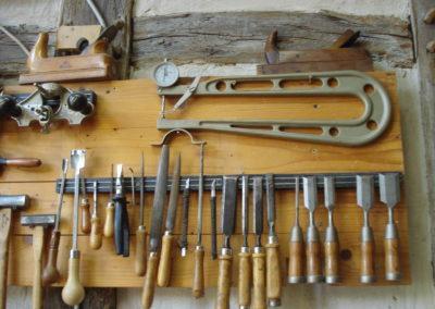 Einige unserer Werkzeuge in der Werkstatt