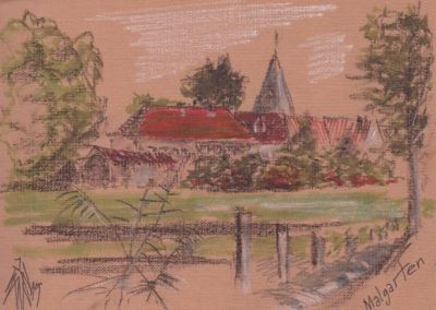 Kloster Malgarten - Zeichnung von Jegor Vysotsky, Kassel: www.vysotsky.de