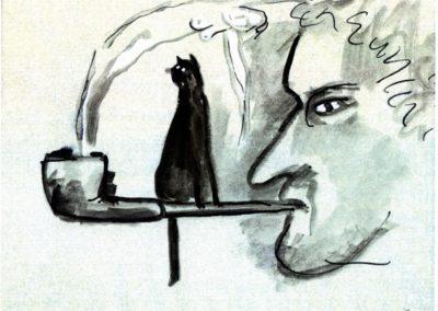 Heiner Windelband - Zeichnung von Jegor Vysotsky, Kassel: www.vysotsky.de