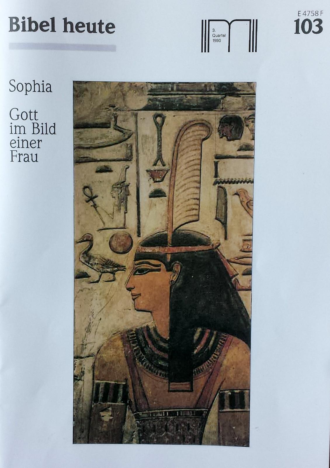 Bibel heute Sophia Gott im Bild einer Frau