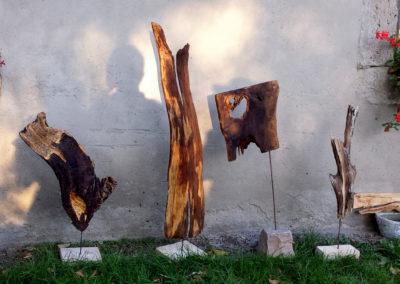 Künstlerin Natur_ Skulpturen aus altem Holz