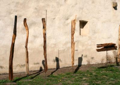 Alte Weidepfähle zu Hüter*innen oder Stelen