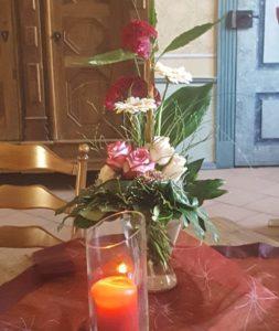 Tischdekoration im Trauzimmer des ehemaligen Benediktinerinnen-Konvents