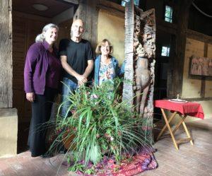Brigitte Prinzhorn-Negel, Christian Conrad und Vera Zingsem bilden die aktuelle Arbeitsgruppe Museumsscheune Kulturkloster Malgarten